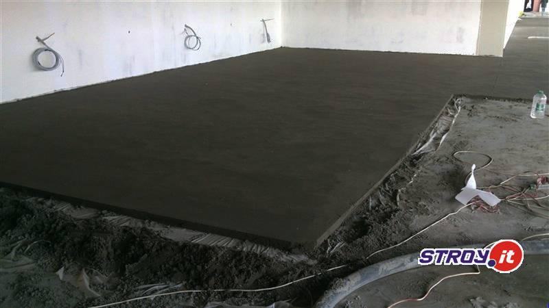 Стяжка пола на заводе Бош