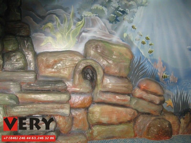 Бассейн с росписью