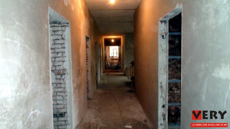 Штукатурка стен на в поликлинике №1015 в селе Тоцкое-2 по заказу Спецстроя РФ