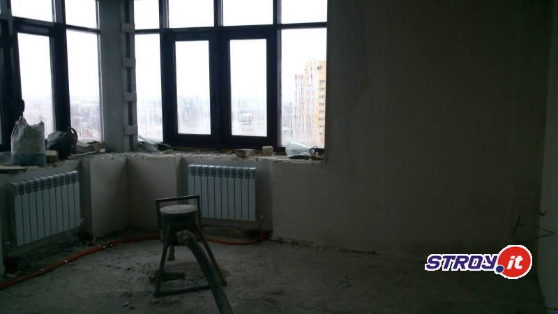 Штукатурка стен в квартире жк Самара Твинс