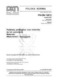PN-EN 13813:2003